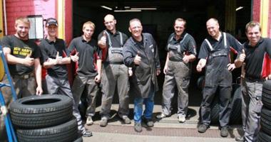 Das Werkstatt-Team von Reifen Braun